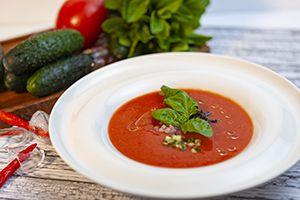 Гаспачо (легкий холодный суп из свежих овощей) /250/20